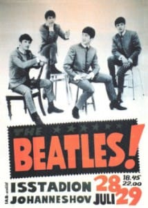 The Beatles Concert Poster Stockholm 1964