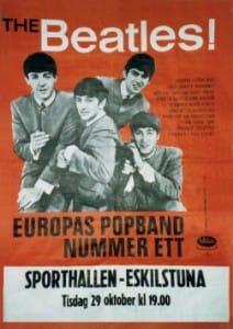 The Beatles Concert Poster Sporthallen Eskilstuna