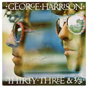 George Harrison SignedLP - thirty three & 1/3rd