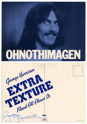 George Harrison signed promotional card