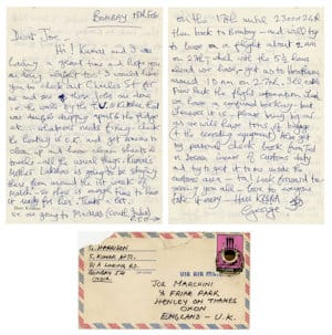 George Harrison handwritten letter
