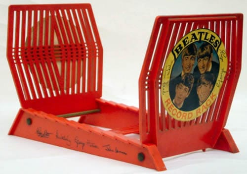 Beatles original 1960's record rack