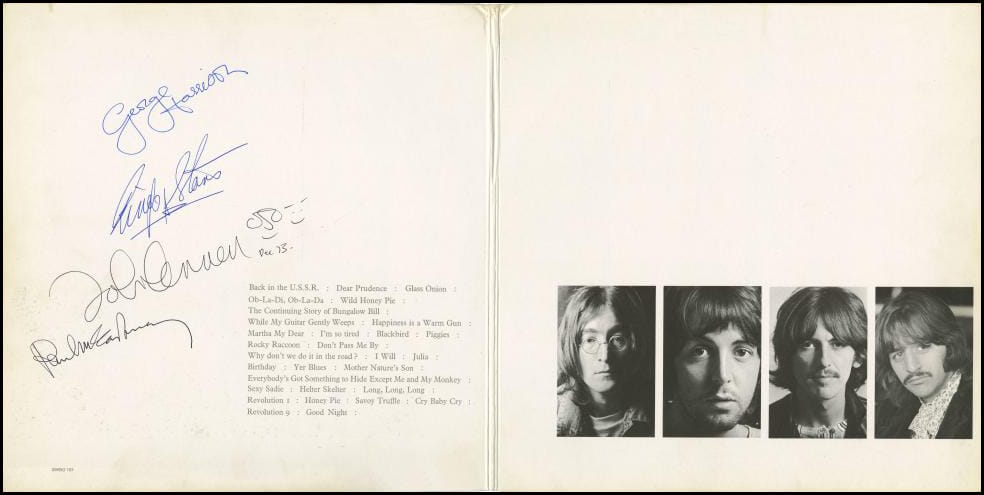 A USA Copy Of The White Album Fully Signed By All Four Members Beatles