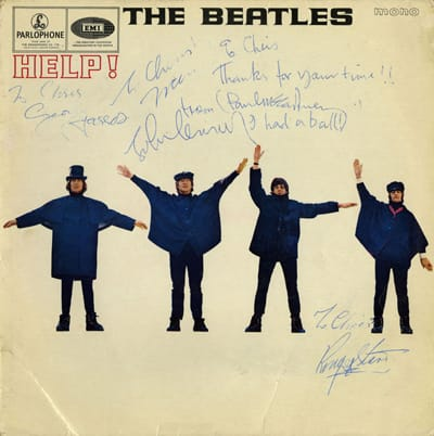 HELP! LP Signed During The Filming Of Magical Mystery Tour
