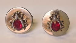 A Pair Of 'Beetle' Cufflinks Owned And Worn By John Lennon During 1963