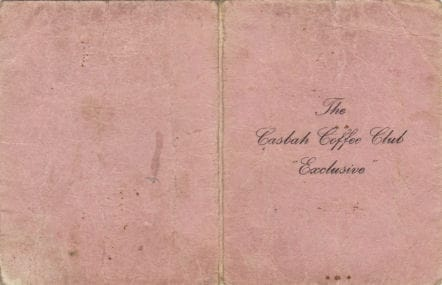 Casbah Club Membership Card