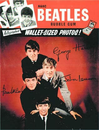 The Beatles Bubblegum Cards Promotional Poster 1963