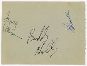 Buddy Holly Autographs 3