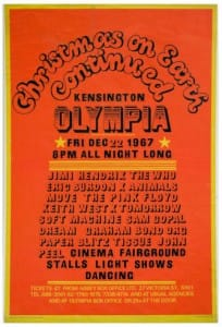 A Jimi Hendrix Concert Poster For Kensington Olympia, 22nd December 1967