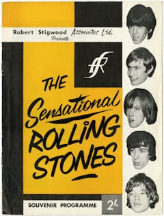 Rolling Stones 1960s Programme - The Sensational Rolling Stones