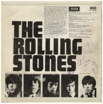 Stones Autographs On A Record Sleeve