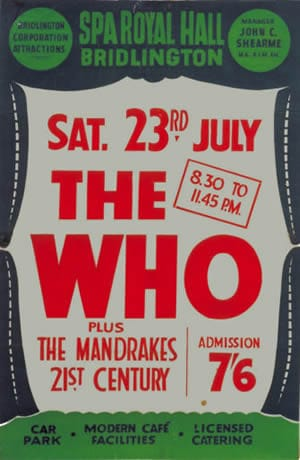 A The Who Concert Poster For The Spa Royal Hall, Bridlington 23rd July 1966